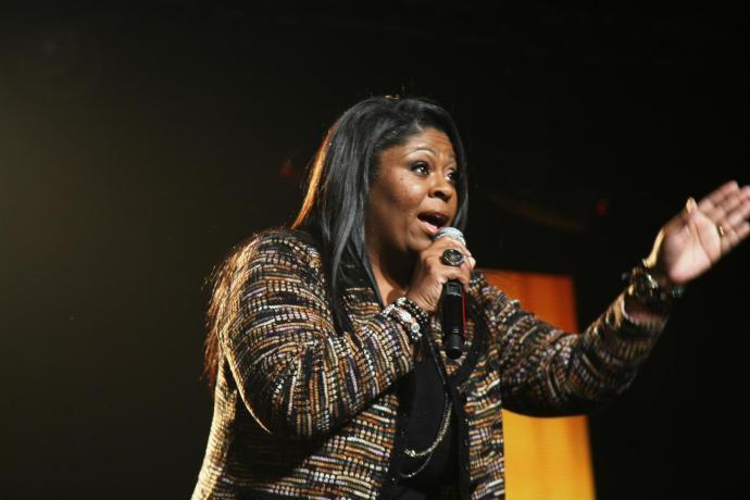 Kim Burrell performs