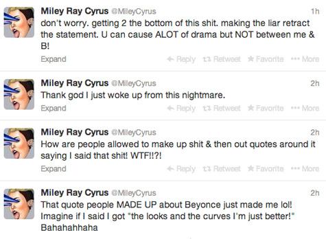 miley-beyonce-tweets